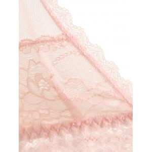 Mesh See Thru Slip Babydoll with Lace -