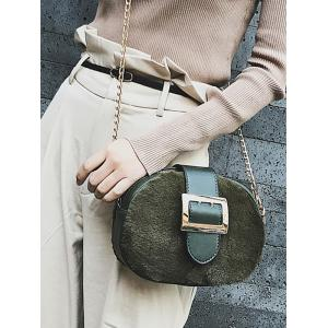 Splicing Chain Buckle Strap Crossbody Bag -