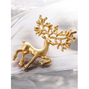 Christmas Alloy Elk Brooch -