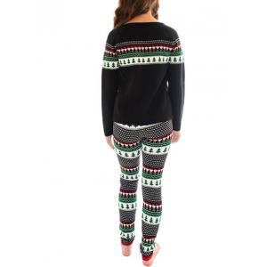 Christmas Printed Sweatshirt Sleepwear Set -