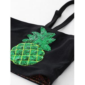Sequin Pineapple Bandeau Bikini Set -