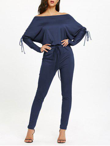 Shop Lace Up Off The Shoulder High Waist Jumpsuit