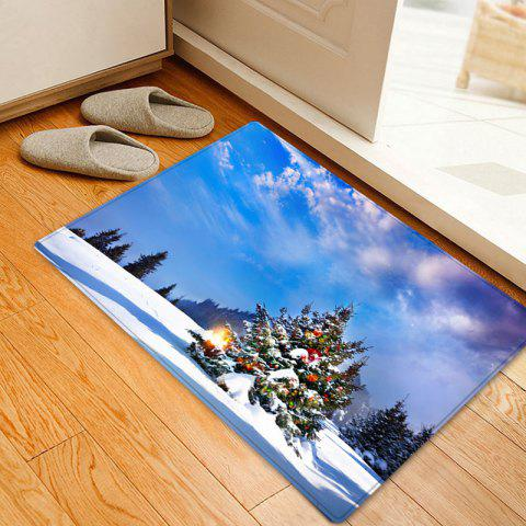 Online Christmas Tree Forest Pattern Anti-skid Water Absorption Area Rug