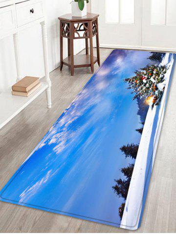 Sale Christmas Tree Forest Pattern Anti-skid Water Absorption Area Rug