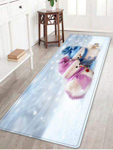 Shop Christmas Snowman Lover Pattern Anti-skid Water Absorption Area Rug