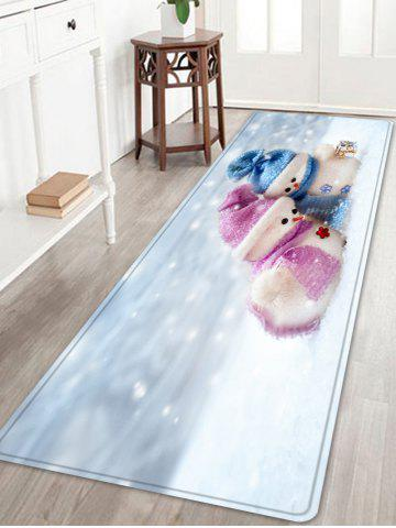 Shops Christmas Snowman Lover Pattern Anti-skid Water Absorption Area Rug