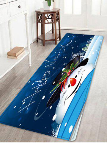 Affordable Happy New Year Snowman Pattern Anti-skid Water Absorption Area Rug