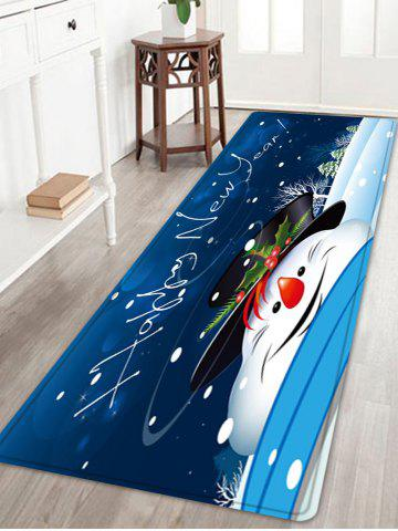 New Happy New Year Snowman Pattern Anti-skid Water Absorption Area Rug