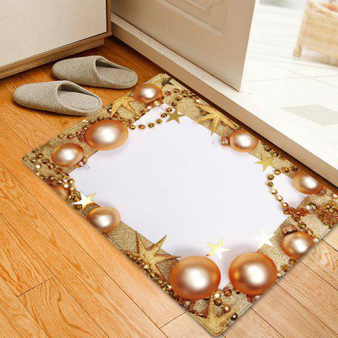 Outfit Christmas Balls Chain Pattern Anti-skid Water Absorption Area Rug