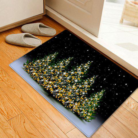 Unique Christmas Trees Night Pattern Anti-skid Water Absorption Area Rug