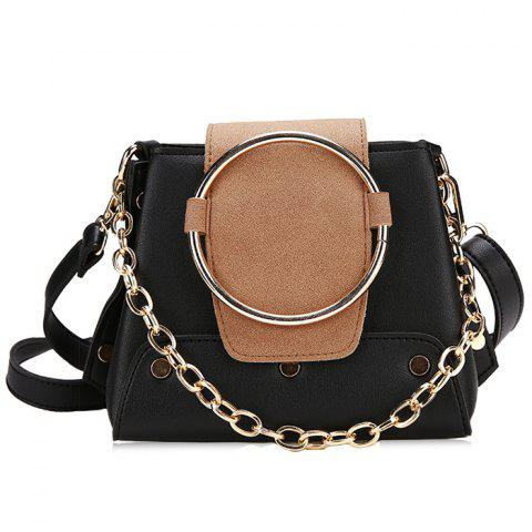 Outfit Round Ring Color Block Crossbody Bag