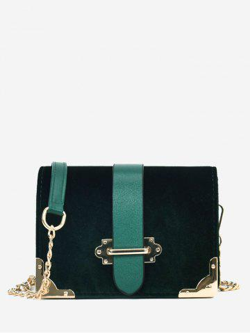 Trendy Chain Metal Corner Crossbody Bag