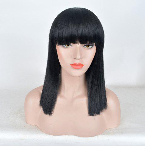 Shops Medium Full Bang Straight Synthetic Wig
