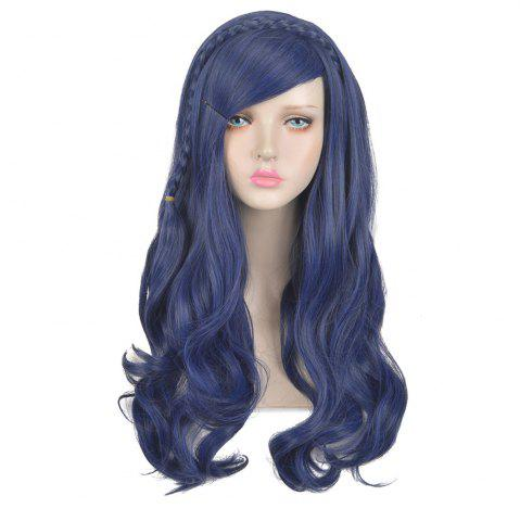 Trendy Long Side Bang Braided Wavy Descendants Evie Cosplay Synthetic Wig For Children