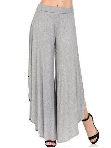 Fashion High Waist Flounce Wide Leg Pants