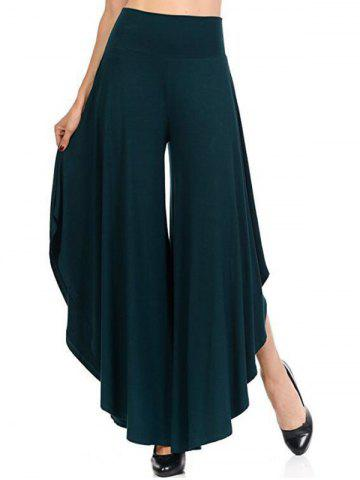 Best High Waist Flounce Wide Leg Pants