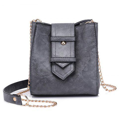 Hot Buckle Strap Chain Faux Leather Crossbody Bag