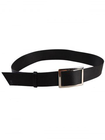 Shop Vintage Metal Buckle Embellished PU Leather Wide Waist Belt