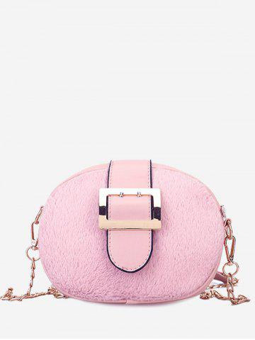 Outfit Splicing Chain Buckle Strap Crossbody Bag