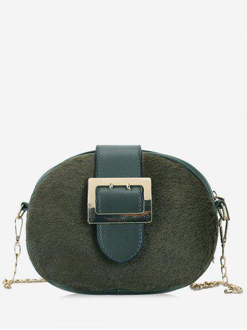 Outfits Splicing Chain Buckle Strap Crossbody Bag