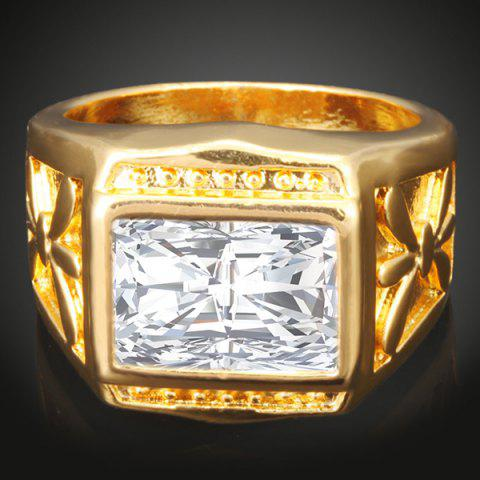 Fashion Artificial Gemstone Geometric Finger Ring