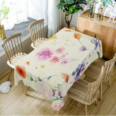 Trendy Flower Print Dining Table Cloth
