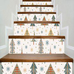 Christmas Tree and Snowflake Print DIY Home Decor Stair Stickers
