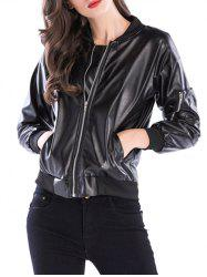 Fake Leather Bike Jacket -