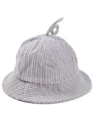 Outdoor Striped Pattern Corduroy Bucket Hat -