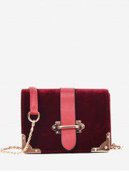 Chain Metal Corner Crossbody Bag -