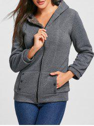 Fashion Casual Women's Thicken Hoodie Coat Outerwear Jacket -
