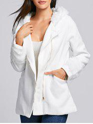 Chic Hooded Long Sleeve Loose-Fitting Zippered Women's Coat -