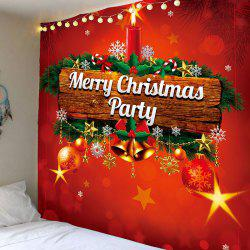 Merry Christmas Candle Printed Wall Hanging Tapestry -