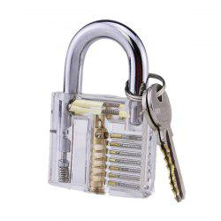 Lock Pick Skill Transparent Training Practice Padlock -