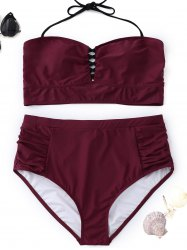Halter High Waisted Plus Size Bikini -