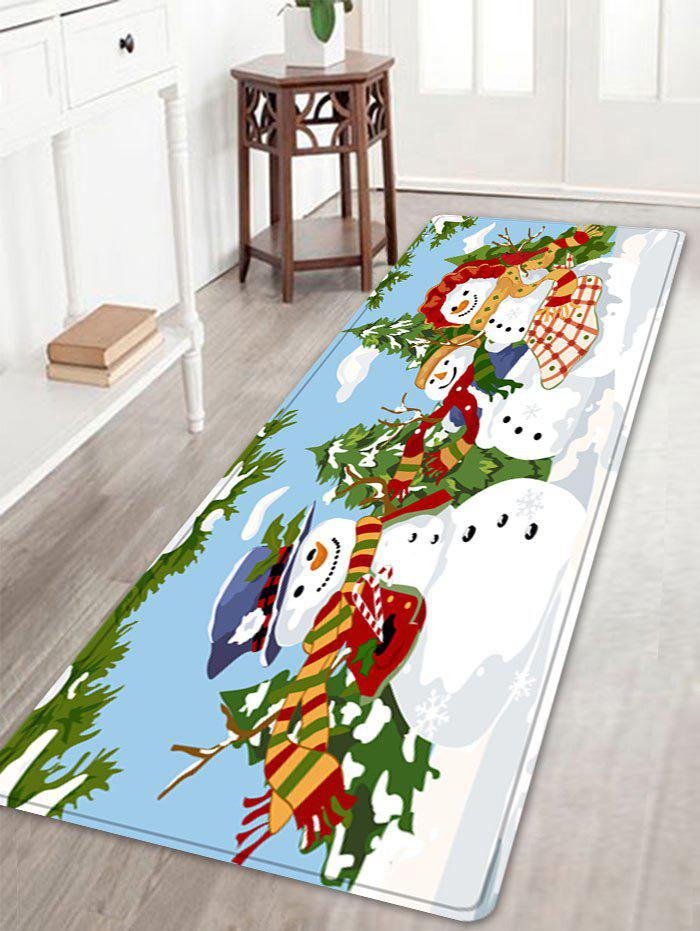 Outfits Christmas Snowmen Family Trees Pattern Anti-skid Water Absorption Area Rug