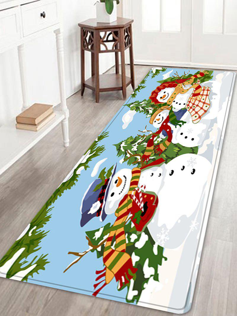 Outfit Christmas Snowmen Family Trees Pattern Anti-skid Water Absorption Area Rug