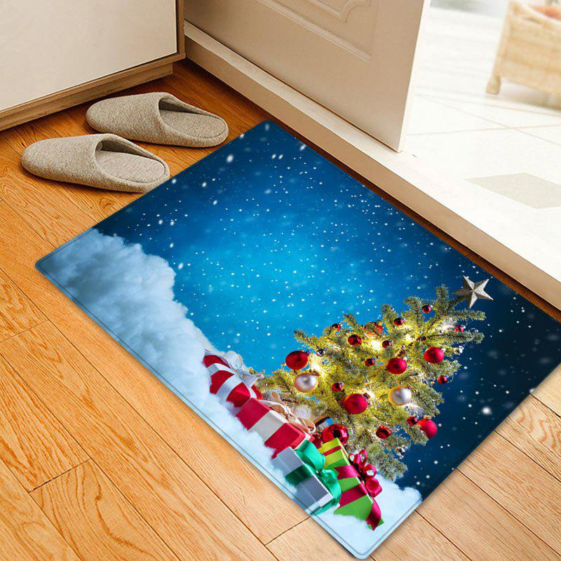 Affordable Christmas Tree Presents Pattern Anti-skid Water Absorption Area Rug