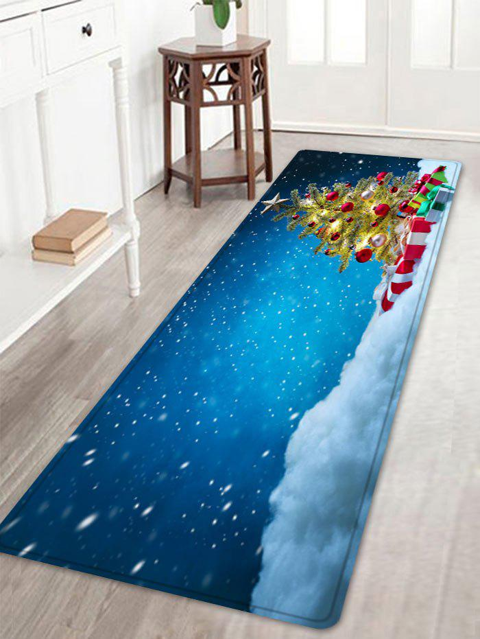 Shop Christmas Tree Presents Pattern Anti-skid Water Absorption Area Rug