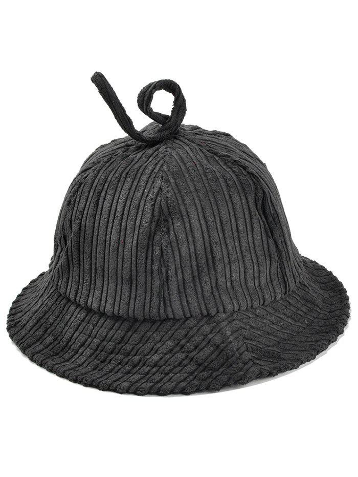 Outfit Outdoor Striped Pattern Corduroy Bucket Hat