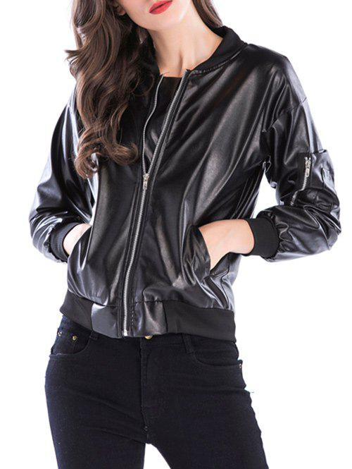 Affordable Fake Leather Bike Jacket