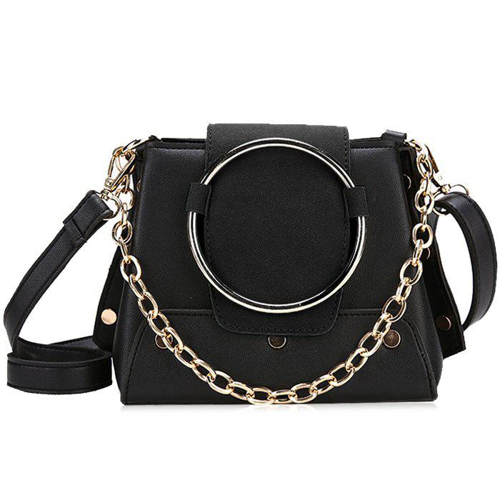 Latest Round Ring Color Block Crossbody Bag