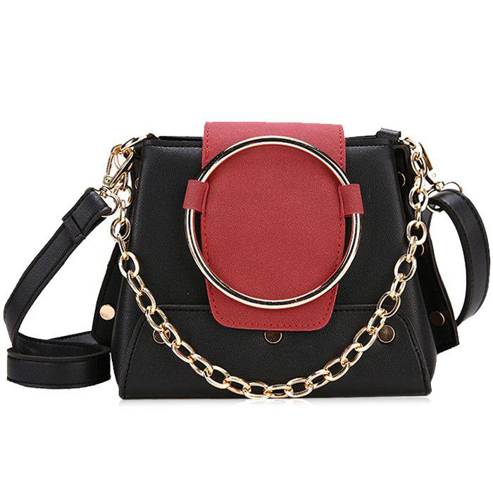New Round Ring Color Block Crossbody Bag