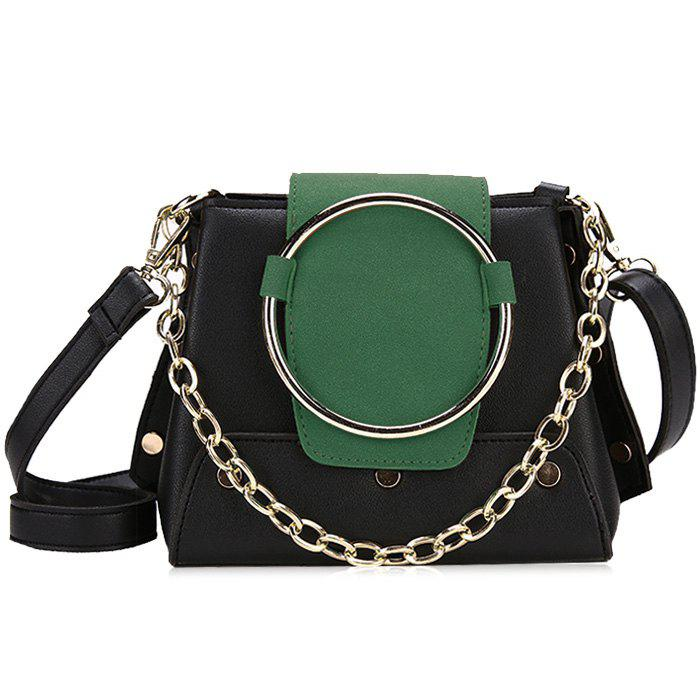 Affordable Round Ring Color Block Crossbody Bag