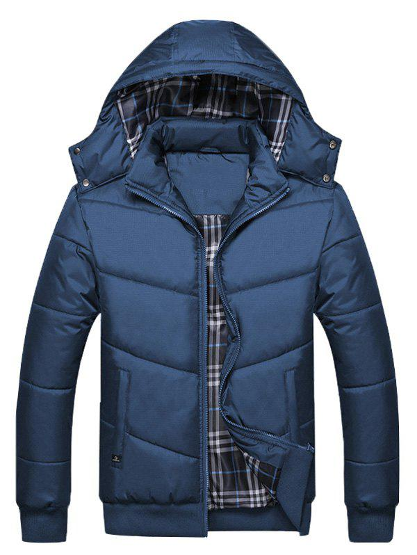 Unique Detachable Hooded Zip Up Padded Jacket