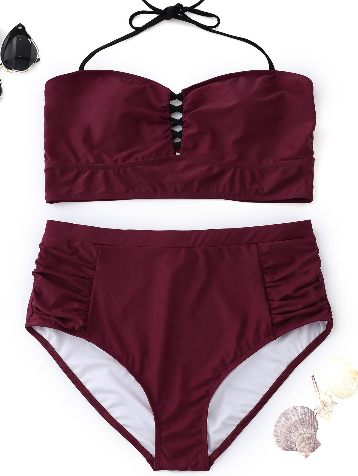 Best Halter High Waisted Plus Size Bikini