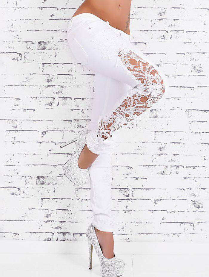 Latest Lace Crochet Skinny Jeans