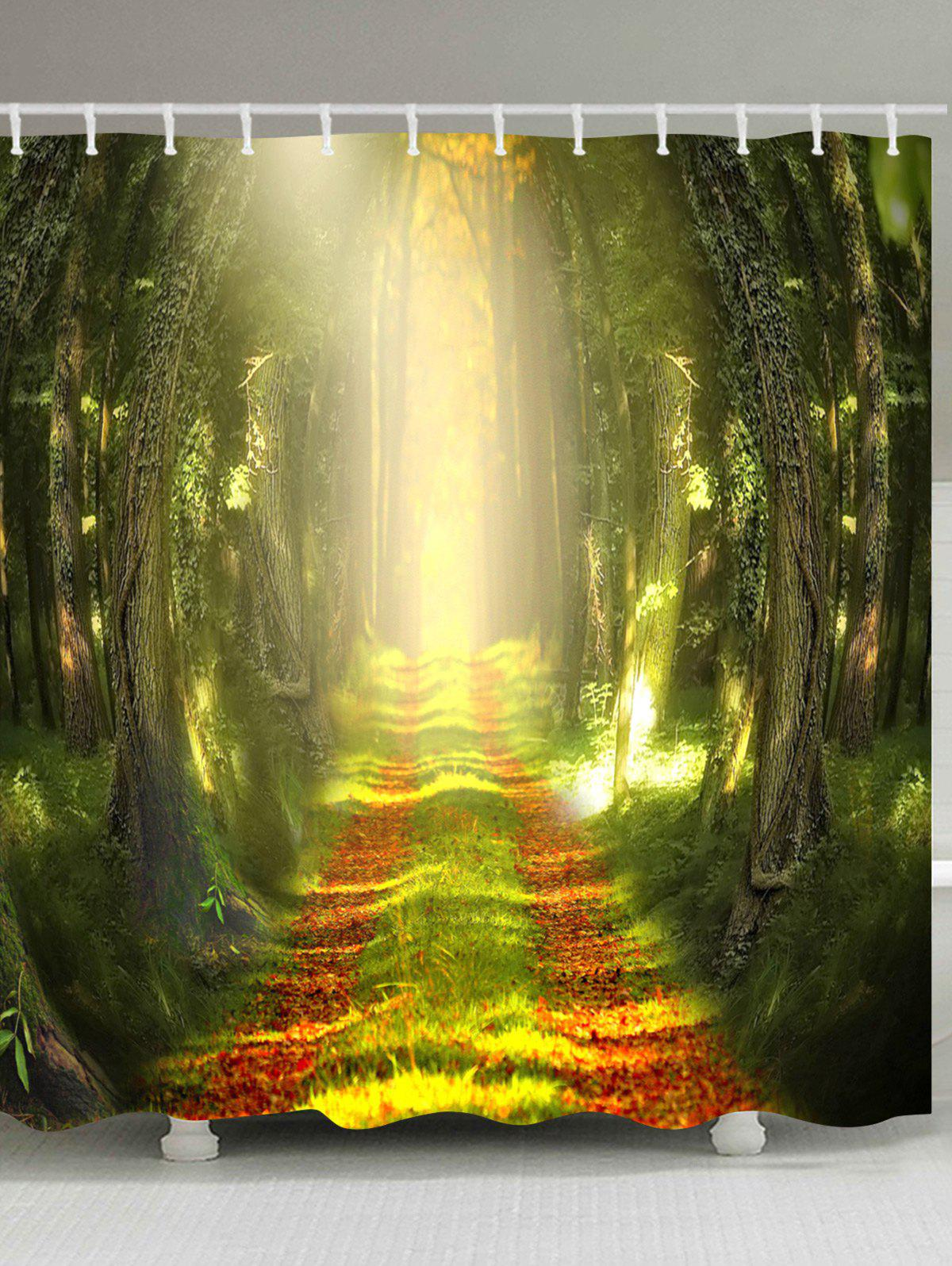 Buy Sunlight Forest Pathway Printed Bath Curtain