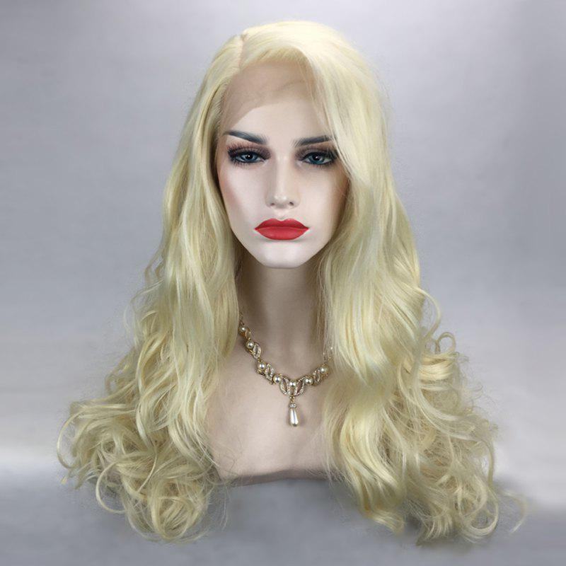 Affordable Long Side Parting Shaggy Wavy Lace Front Synthetic Wig