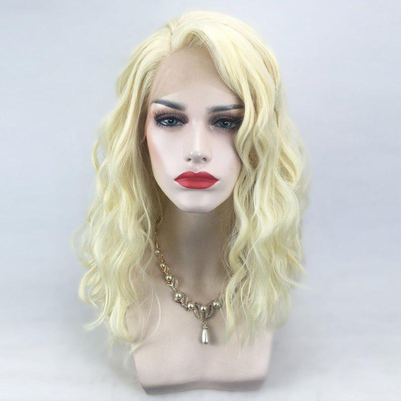 Trendy Medium Side Parting Natural Wavy Synthetic Lace Front Wig